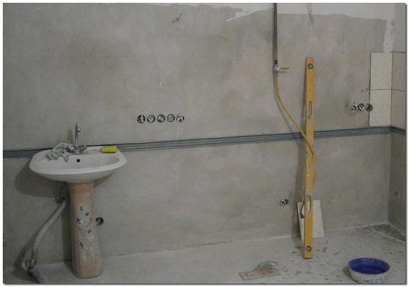 Подготовка стен для укладки плитки