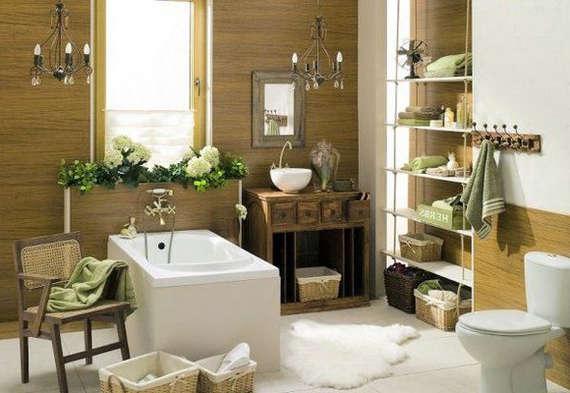 Интерьер ванной комнаты и туалета