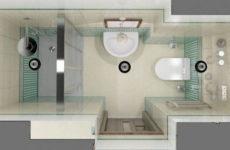 Дизайн плитки в ванной комнате маленького размера